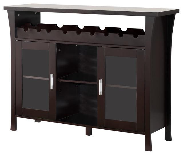 wine rack buffet server console table