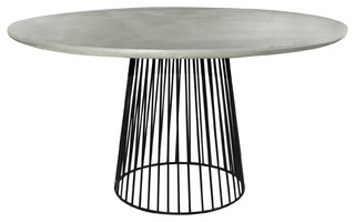 round concrete table industrial