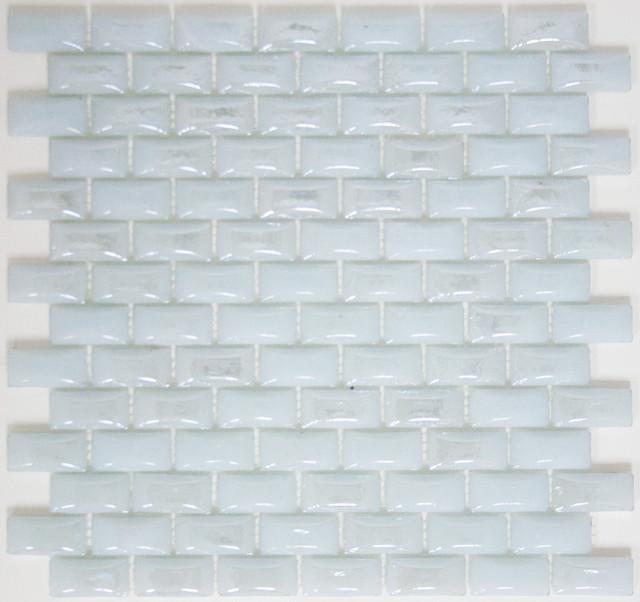 12 x12 curved white milk glass subway tile full sheet