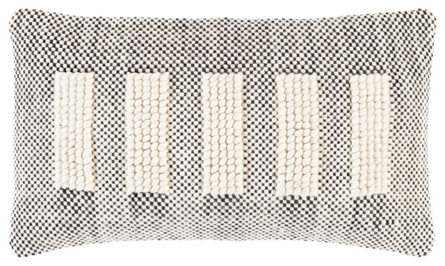 surya harlow 14 x 24 beige and cream and black pillow cover hrw003 1424