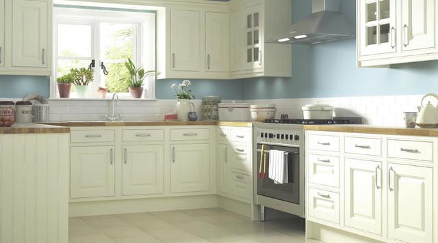 Red kitchen tiles b q. classic cream kitchen rustic kitchen ...