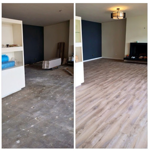 Laminate Wood Flooring BEFOREAFTER