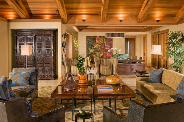 Living Room Tropical Living Room Hawaii By Saint