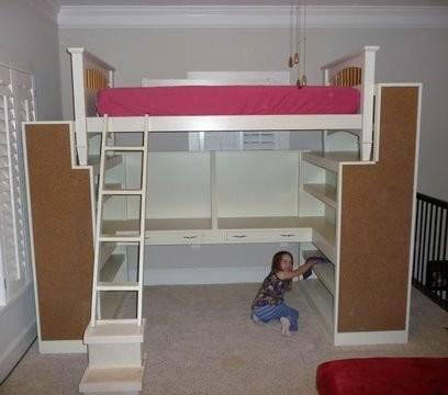 Bunk Bed Closet Underneath Home Decor