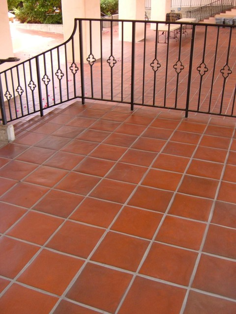 Quarry Tile Pavers Mediterranean Patio By
