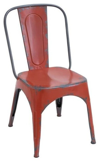 metal red chair for modern or traditional style contemporary