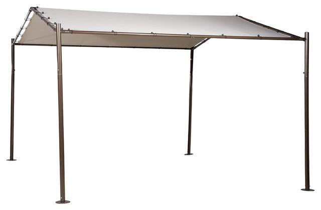 abba patio outdoor canopy garden gazebo 13 x11 5 beige