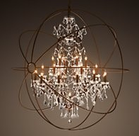 Finding Coordinating Light Fixtures To Rh Foucault S Crystal Orb Chandelier