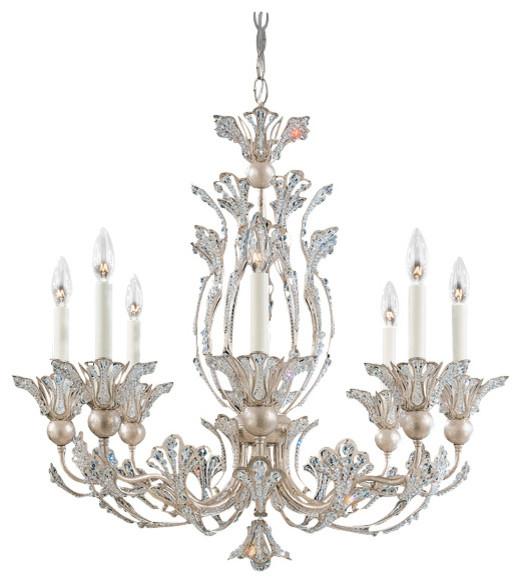 Schonbek Lighting 7866 48s Rivendell Antique Silver 8 Light Chandelier Victorian Chandeliers