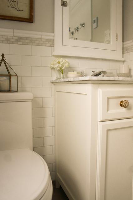 Vintage Hotel Style Bathroom Renovation Traditional