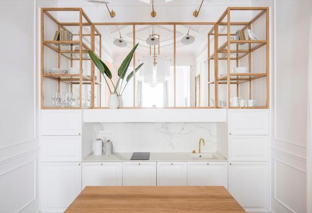 espace entre meubles de cuisine