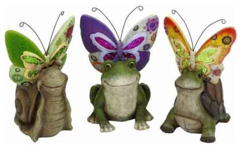 Metalwork Frog With Fly Garden Decor