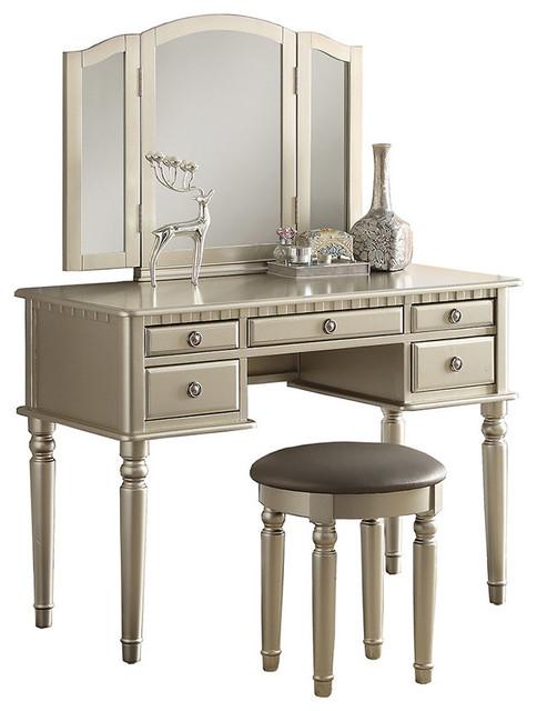 traditional bedroom and makeup vanities | houzz