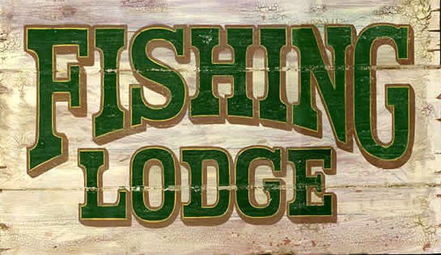 Lake Martin Alabama Cabin Decor Vintage Look Fishing Lure Bo