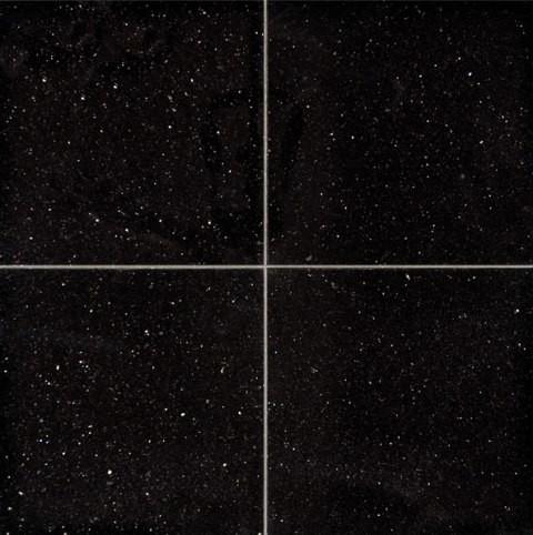 polished black galaxy granite tile sample