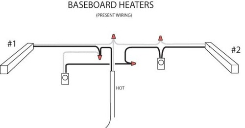 electric baseboard heater wiring instructions wiring diagram baseboard heater wiring doityourself munity forums