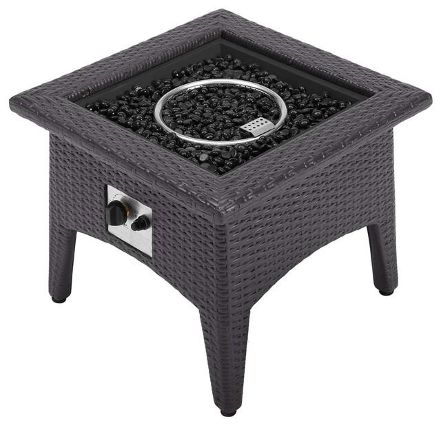 vivacity outdoor patio fire pit table espresso