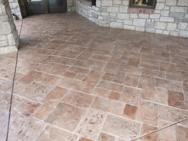 Stamped Concrete Overlay Pool Deck Frisco Tx6 Esr Decorative Experts Staining And Engraving