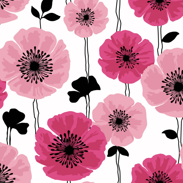Darcy Magenta Modern Floral Wallpaper Contemporary Wallpaper By Brewster Home Fashions