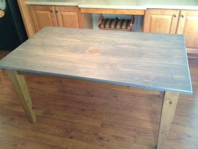 Grey Wood Stain Dining Table, Plans Outdoor Side Table