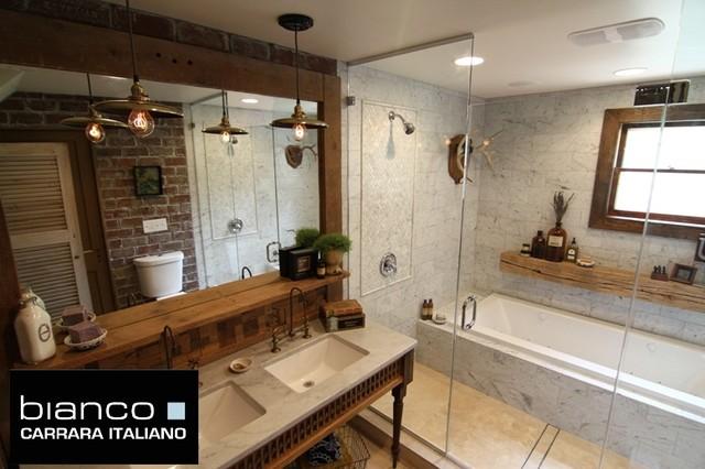 Carrara Bianco Italian Marble Bathroom bathroom