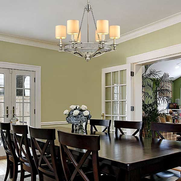 Contemporary Chandelier Traditional Dining Room Houston By