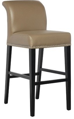 Taupe Leather Counter Height Stool Contemporary Living Room Chairs Toronto By Inspired