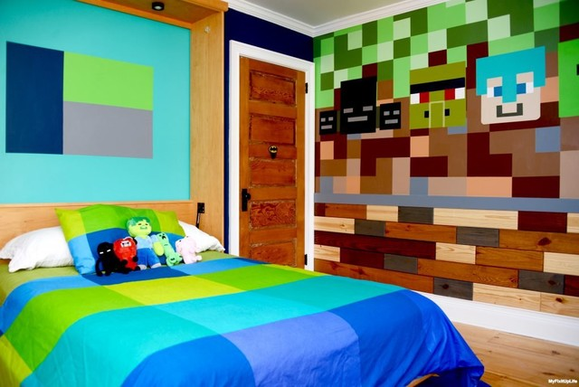 Minecraft bedroom makeover contemporary