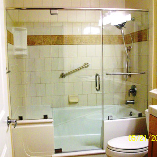 EZ Step Tub To Shower Conversion With A Frameless Shower
