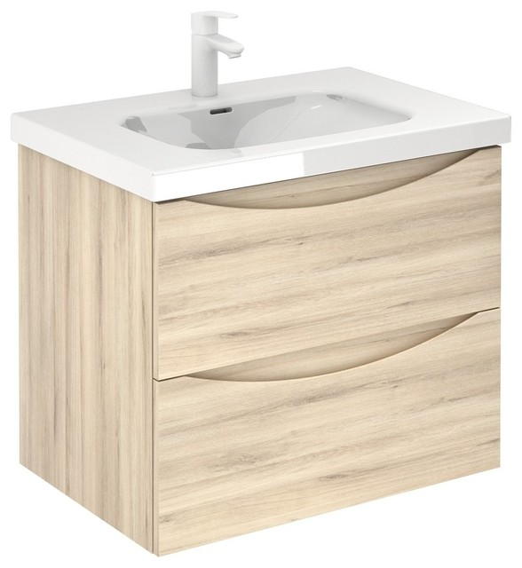 love modern floating bathroom vanity 28 inches natural 2 drawer with basin