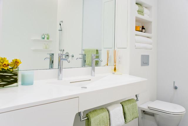 Perry St Corian Bathroom Nyc Contemporary Bathroom