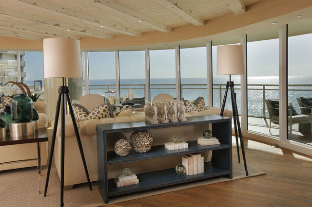 Moraya Bay Living Room beach-style-living-room