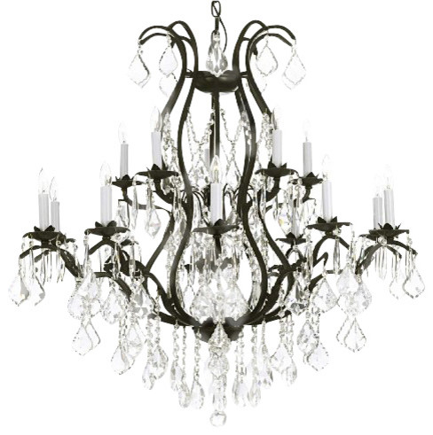 Wrought Iron Empress Crystal Chandelier Traditional Chandeliers