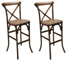 X-Back Farm Bar Stools, Set of 2