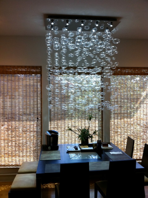 Chandelier Installation By Quatro Team Modern Dining Room