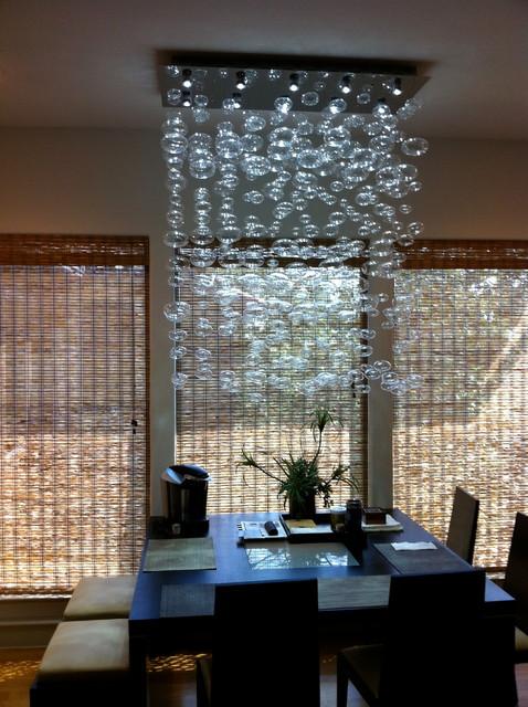 Chandelier Installation By Quatro Team Modern Dining Room