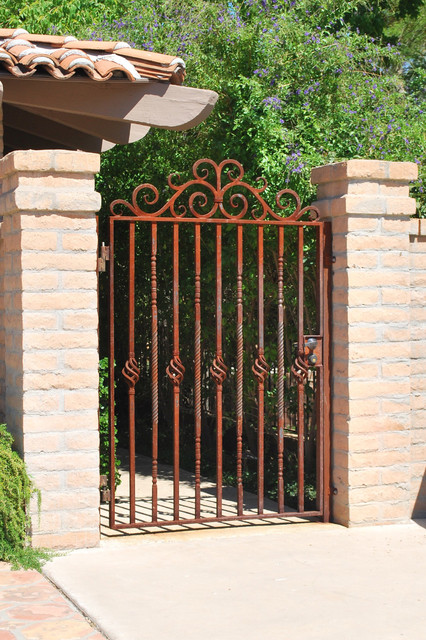 Forged Courtyard Gate Traditional Exterior Phoenix