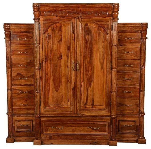 royal elizabethan solid wood large wardrobe armoire dresser