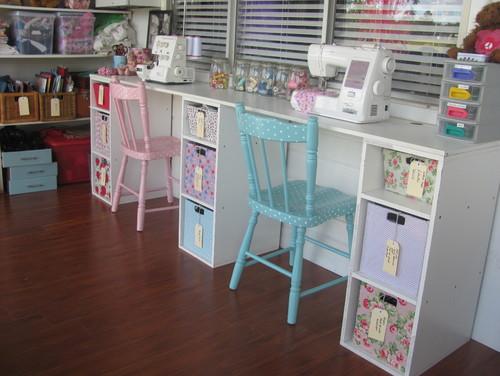 my vintage look sewing room