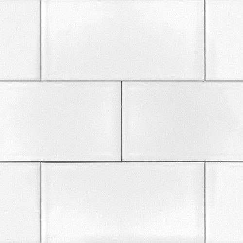 subway backsplash tile shiny gloss 3 x6
