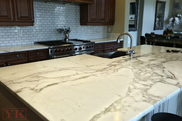 Kitchen Calacatta Gold Marble Countertops Traditional