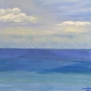 """Tranquil Seas"" Original Artwork By Caroline Silvey"