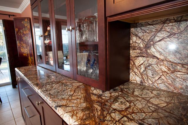 Rainforest Brown Granite Kitchen In Bowie MD Contemporary Kitchen DC Metro By Granite