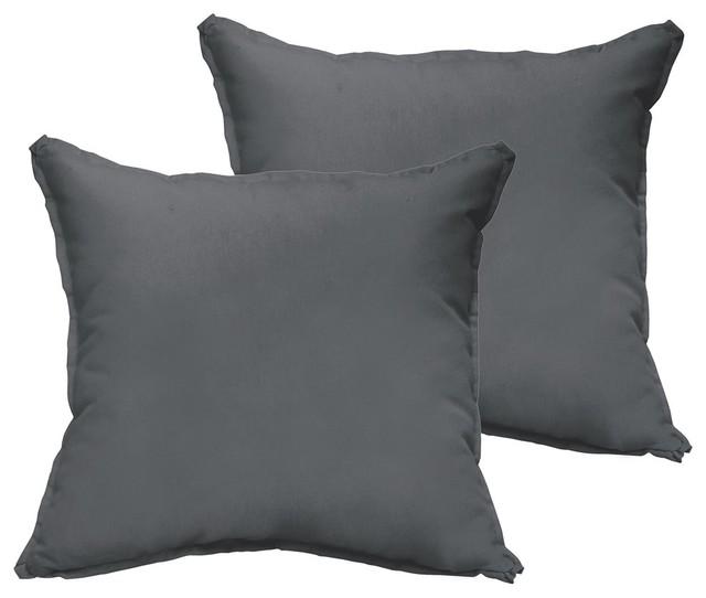 corrigan sunbrella outdoor square pillow set of 2 charcoal 22x22