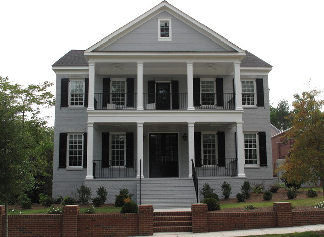 Double Front Porch Estate Traditional Exterior