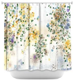 """""""Aspen Grove"""" Shower Curtain by Dawn Derman"""