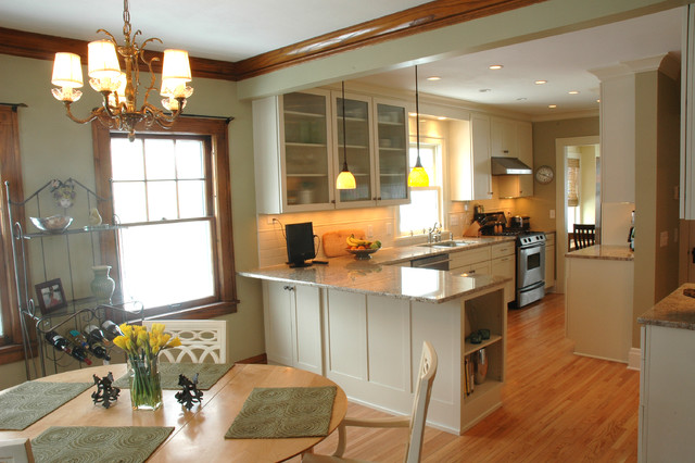 An Open Kitchen-Dining Room Design In A Traditional Home