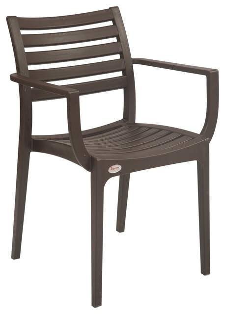 empire outdoor resin patio chairs set of 2 dark brown