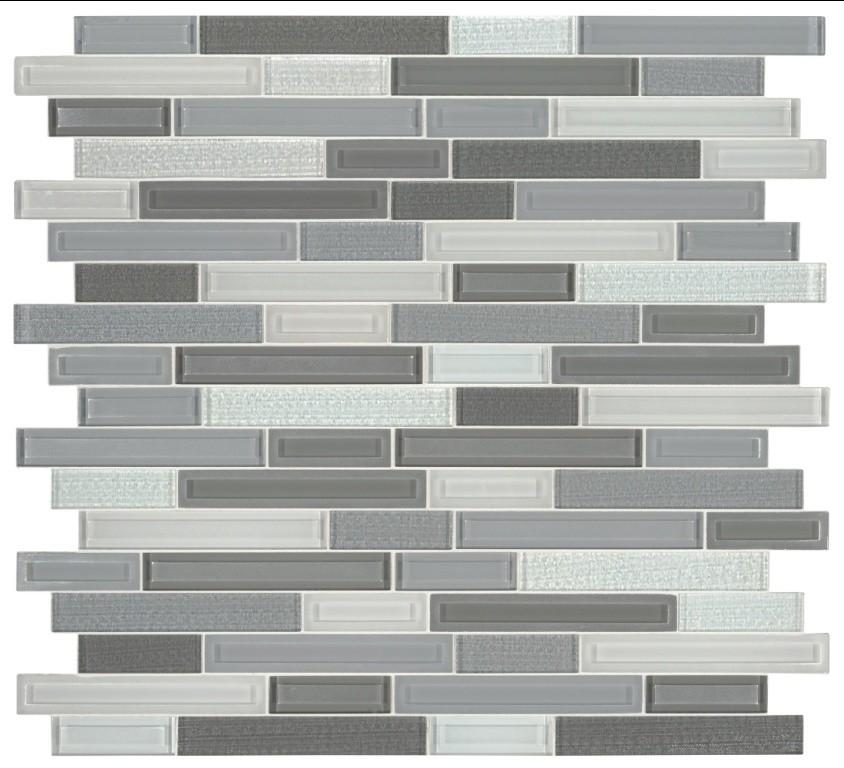skyline staks interlocking pattern glass mosaic sample