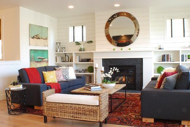 Modern Farmhouse Living room campagne-salon